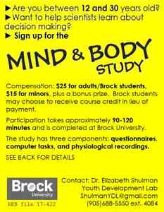 Get Paid to Participate in Research at Brock U