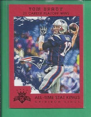 2015 Gridiron Kings  Red All Time Stat Kings Tom Brady No 200