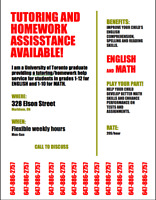ENGLISH TUTORING AND HOMEWORK HELP AVAILABLE