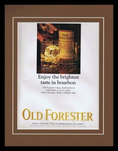1965 Old Forester Bourbon Framed 11x14 ORIGINAL Vintage Advertisement