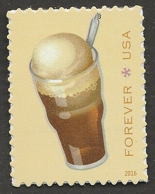 US 5096 SODA FOUNTAIN FAVORITES ROOT BEER FLOAT FOREVER SINGLE MNH 2016