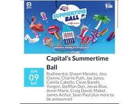 CAPITAL SUMMERTIME BALL - 6 STANDING TICKETS - WEMBLEY STADIUM - 9TH JUNE