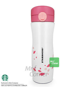SS076 12oz Starbucks stainless Japan Sakura Pink Cherry Blossom tumbler NEW 2014