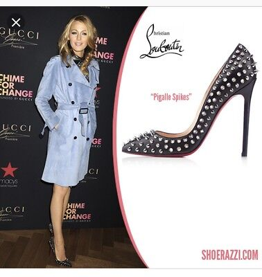 Christian Louboutin Original Pigalle Spikes 120 Black Pumps Heels 38 So Kate
