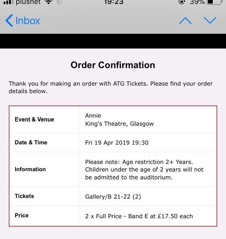 Annie King S Theatre Glasgow