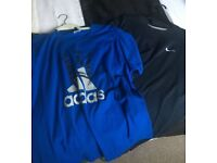 "X3 Adidas & Nike & joe brown shirts xxl 50"" bundle"