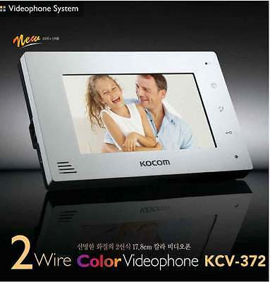 KOCOM KCV-372W 2 Color Video InterPhone + 1 Door Camera Security Intercom