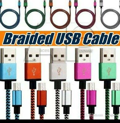 3 PACK USB 1M 3FT High Quality Fabric Micro v8 type USB cable. segunda mano  Embacar hacia Argentina