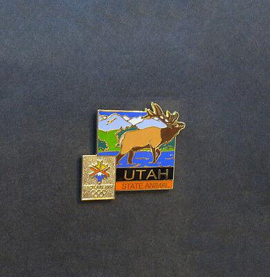 Mountain States Utah (Rocky Mountain Elk pin - Utah State Animal - Salt Lake City Winter Olympics)