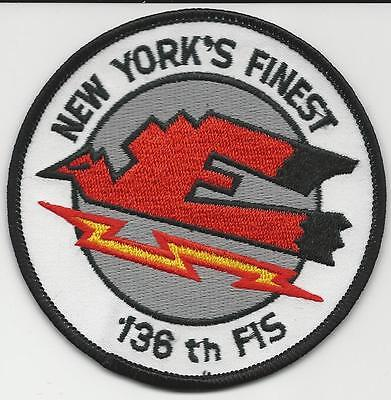 136 FIS (Fighter Interceptor Squadron)   (US Air Force Squadron  Patch)