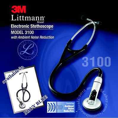 3m Littmann 3100 Electronic Stethoscope Navy Blue - Brand New 3100nb