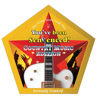 You've Been Sentenced County Music Edition Family Party Word Educational Game