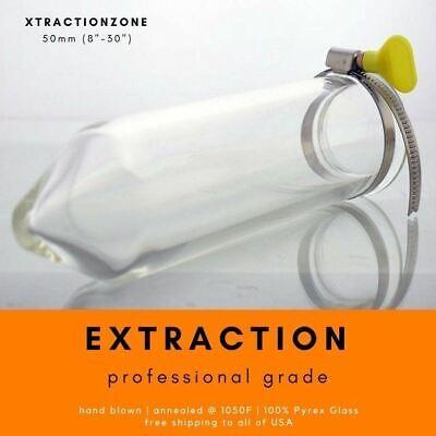 2 Diameter 50x5mm Pyrex Borosilicate Lab Glass Extractor Tube Filter 8-30