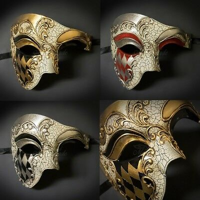 Men's Masquerade Mask, Phantom Masquerade Masks for Men, Venetian Mask M2635 (Venetian Masquerade Masks For Men)