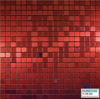 FlexiPixTile- Alum. Peel & Stick Mosaic Tile Kitchen Backspl