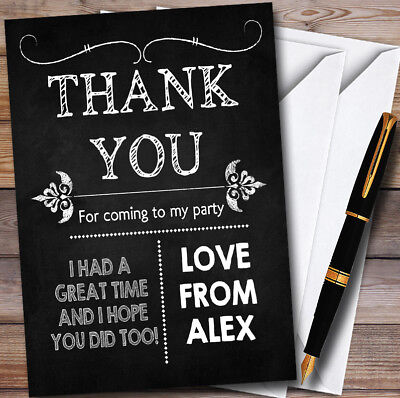 Chalk Style Vintage Halloween Halloween Party Thank You Cards