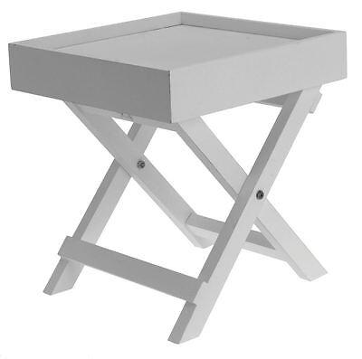 Holz Quadratischen Tisch (Dekorativer Beistelltisch - weiss - Holz Tisch klein Ablagetisch Deko Nachttisch)