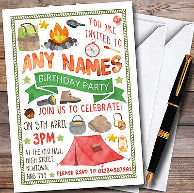Camping Bonfire Personalised Childrens Party Invitations](Bonfire Invitations)