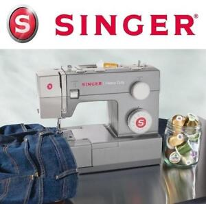 USED SINGER 4411 SEWING MACHINE 4411 188635901 HEAVY DUTY 11-Stitch with Metal Frame and Stainless Steel Bedplate