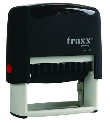 (Traxx 9012 (Ideal 80 size) Custom 4 Line Return Address Self Inking Rubber Stamp)