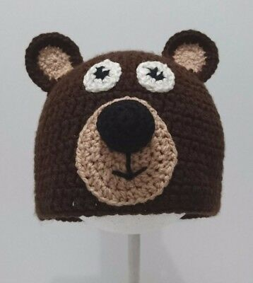Cute Toddler Kids Girl&Boy Baby Infant Crochet Knit beanie cap Bear costume](Baby Boy Bear Costume)