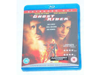 DVD FILM MOVIE BLURAY GHOST RIDER BLU RAY LOOK EXTENDED CUT PS 3 & 4 COMPATIBLE*