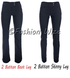NEW-LADIES-GIRLS-BLACK-2-BUTTON-SEXY-TROUSERS-MISS-SEXIES-REVERSE-SIZES-6-16