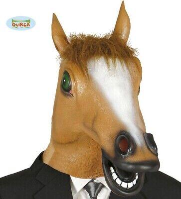 Maske Voller Kopf Latex Pony Maske Braun Fg (Voll Pferd Kostüm)