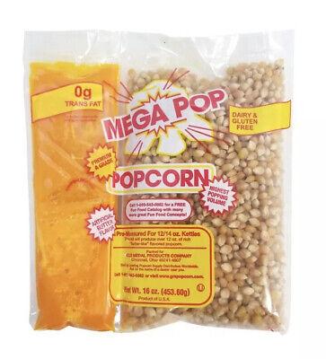 Gold Medal Mega Pop Popcorn Kit 12 Oz. Kit 24 Ct. Authentic Theater Standard