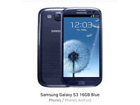 Samsung S3 Unlocked/ Charger