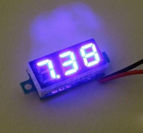 3.2V-30V 0.28 inch Mini LED Display Digital Voltmeter Voltage Tester Meter Blue