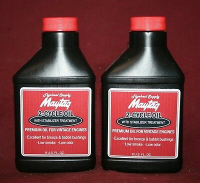 2 Maytag Two Cycle Oil Mix Gas Fuel Engine Motor Model 92 72 82 Hit Miss