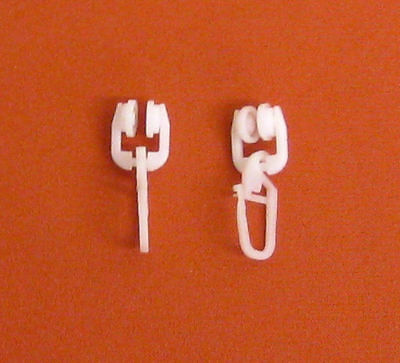 T-Rollringe 9mm T-Schiene Gardinenröllchen Faltenhaken Faltenlegehaken Gleiter ()
