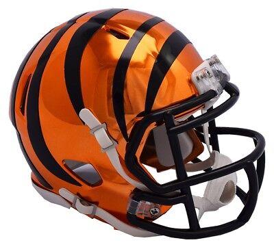 NFL Football Helm CINCINNATI BENGALS Mini Speed Chrome Footballhelm Helmet