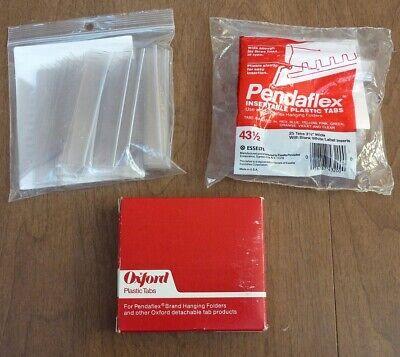 Lot Of 75 Clear Plastic Tabs 3 12 Pendaflex Hanging Folders Assorted Brands