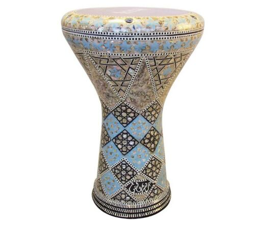 M08 Drum Darbuka tabla doumbek mother of pearl Gawharet El Fan free bag 17 inch