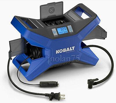 Kobalt Electric Portable Air Compressor 120 Psi 12 Volt   120 Volt Tire Inflator