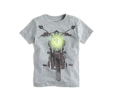 CREWCUTS BY J.CREW Boys Glow in the Dark Motorcycle Graphic T-Shirt Size 10