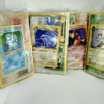 BASESET WOTC MYSTERY CUBE 50+ POKEMON CARDS 2-3 WOTC HOLOS & 5+ FIRST EDITION! Childs First Collection