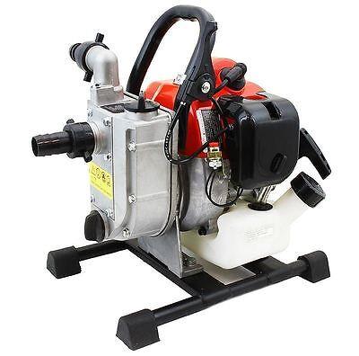 Portable 33cc Gas Gasoline Water Pump 1 2 Stroke Engine 1850gph 26.5ft Suction