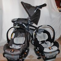 CHICCO CAR SEAT AND STROLLER + EXTRA CAR SEAT AND BASE