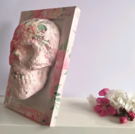 Skull in a Frame Cath Kidston style floral ditsy