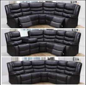 Designer leather recliner sofas