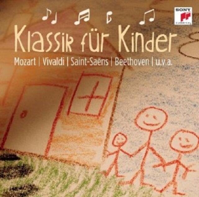 KLASSIK FÜR KINDER  CD  15 TRACKS MOZART/VIVALDI/SAINT-SAENS/BEETHOVEN/+ NEU