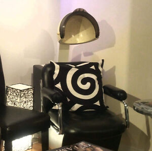 Hair dryer & Hairstylist chair available