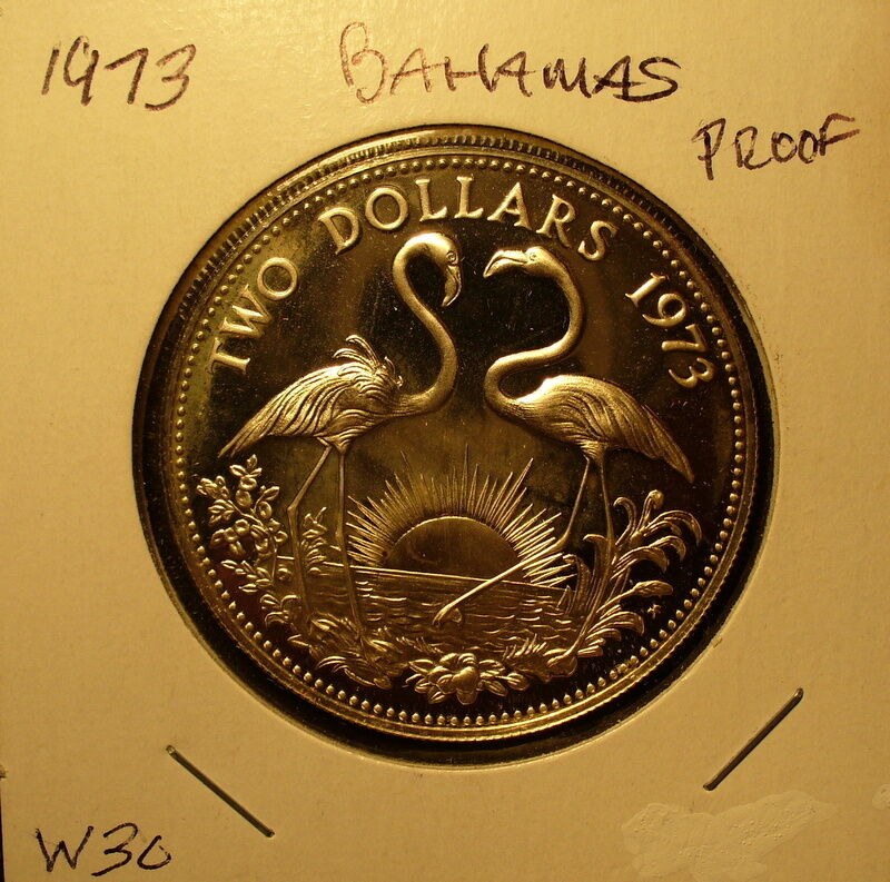 Silver Bahamas Two Dollars 1973 Proof