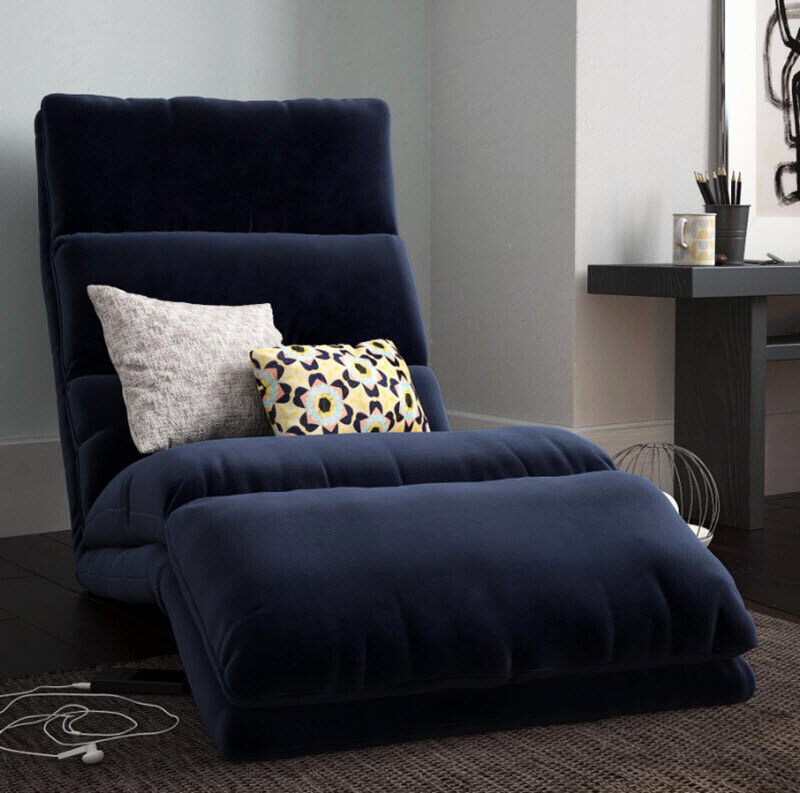 Chaise Lounge Chair Sleeper Lounger Microfiber Indoor Study
