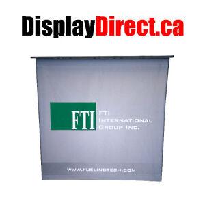 Tradeshow Display Counter | Portable Pop Up Promo Square Counter