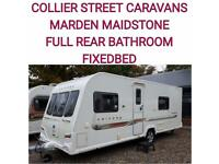 2011 Bailey unicorn Valencia 4 berth fixed bed caravan
