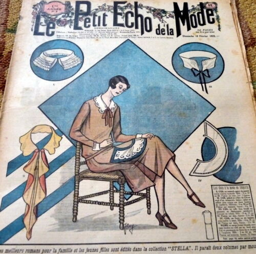 *VTG 1920s PARIS FASHION & SEWING PATTERN CATALOG LE PETIT ECHO de la MODE 1928